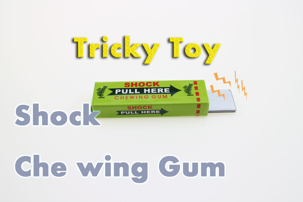 Hot Sale Safety Trick Joke Toy Fun Electric Shock Toys Chewing Gum Pull Head Practical Jokes Shocking Prank Trick Toy(China (Mainland))