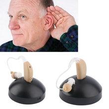 Аккумуляторная ухо слуховой аппарат mini устройства усилитель цифровые слуховые спид за ухо для пожилых acustico ЕС plug 2016 горячая(China (Mainland))