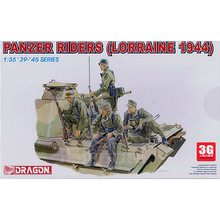 Dragon model scale plastic model 1/35 scale crew 6156 1/35 German tank soldiers aboard Lorraine 1944(China (Mainland))