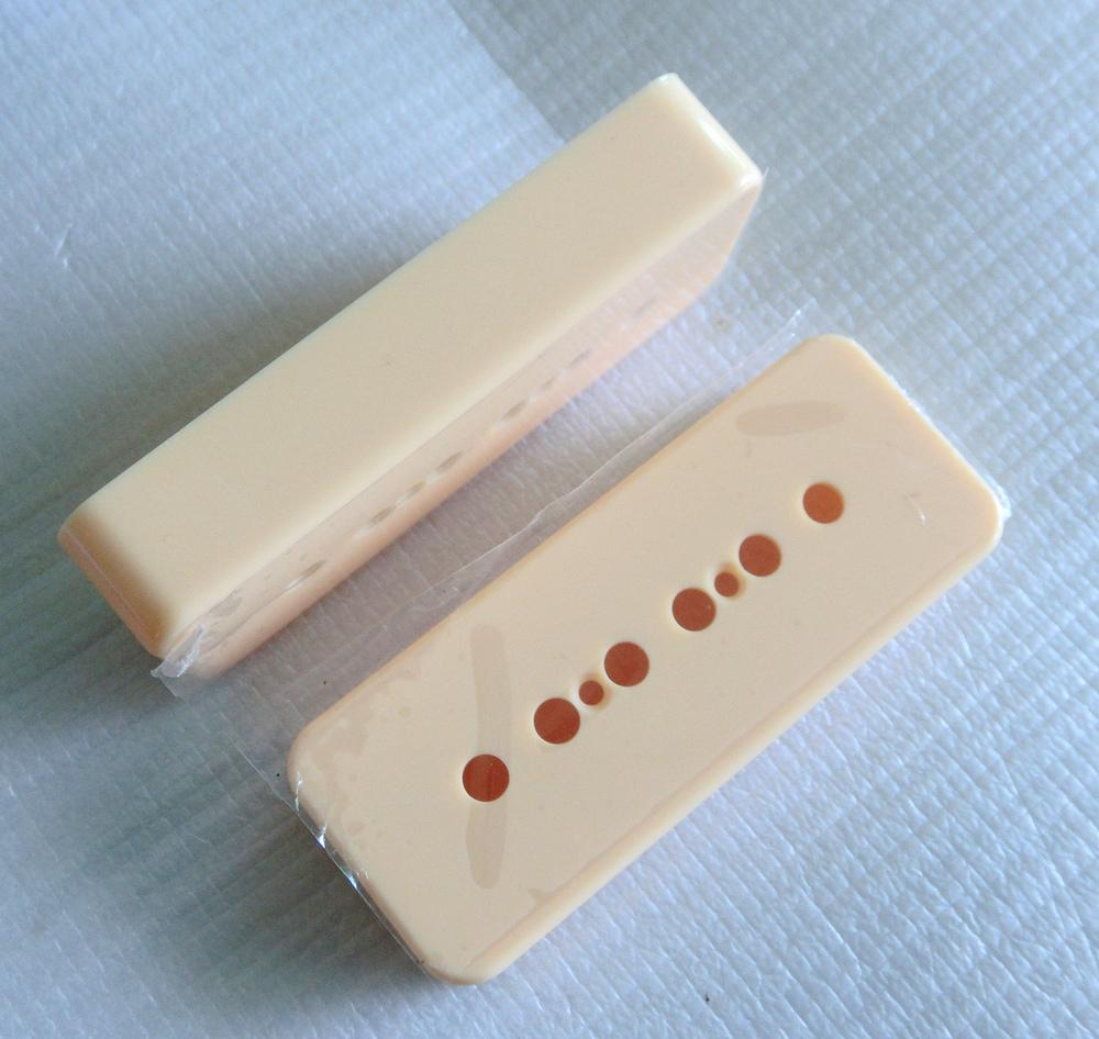 Guitar pickup parts 4pcs/Pack Cream color P90 guitar pickup cover 50mm/52mm guitar pickup covers(China (Mainland))