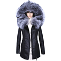Factory Direct Supplier Winter Jacket Women Coats thick Artificial Fashion Slim Suede Female Models leather Fur
