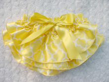 Baby Ruffle Bloomers Layers Baby Diaper Cover Newborn Girls Shorts Toddler Cute Summer Satin Pants with Skirt Free Shipping(China (Mainland))