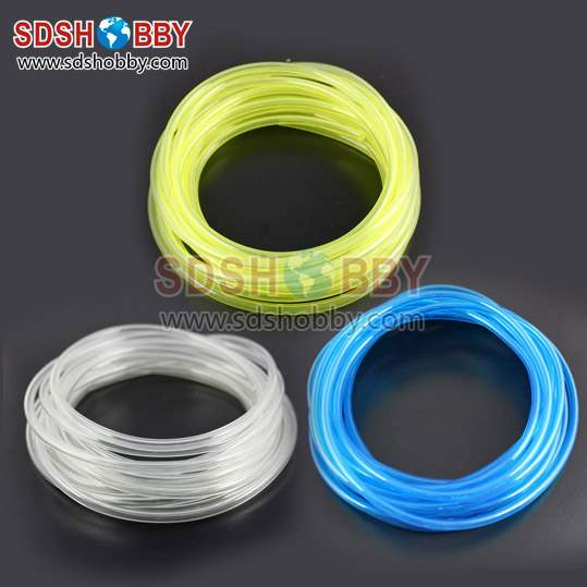10*6mm 100 Meter Fuel Line/ Fuel Pipe for Gas Engine/ Nitro Engine -Transparent/ Blue/ Yellow Color<br><br>Aliexpress