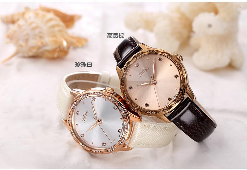 Юлий леди женские наручные часы кварцевых часов лучший мода вырезать платье корея кожаный браслет девочку рождество валентина подарок JA-820