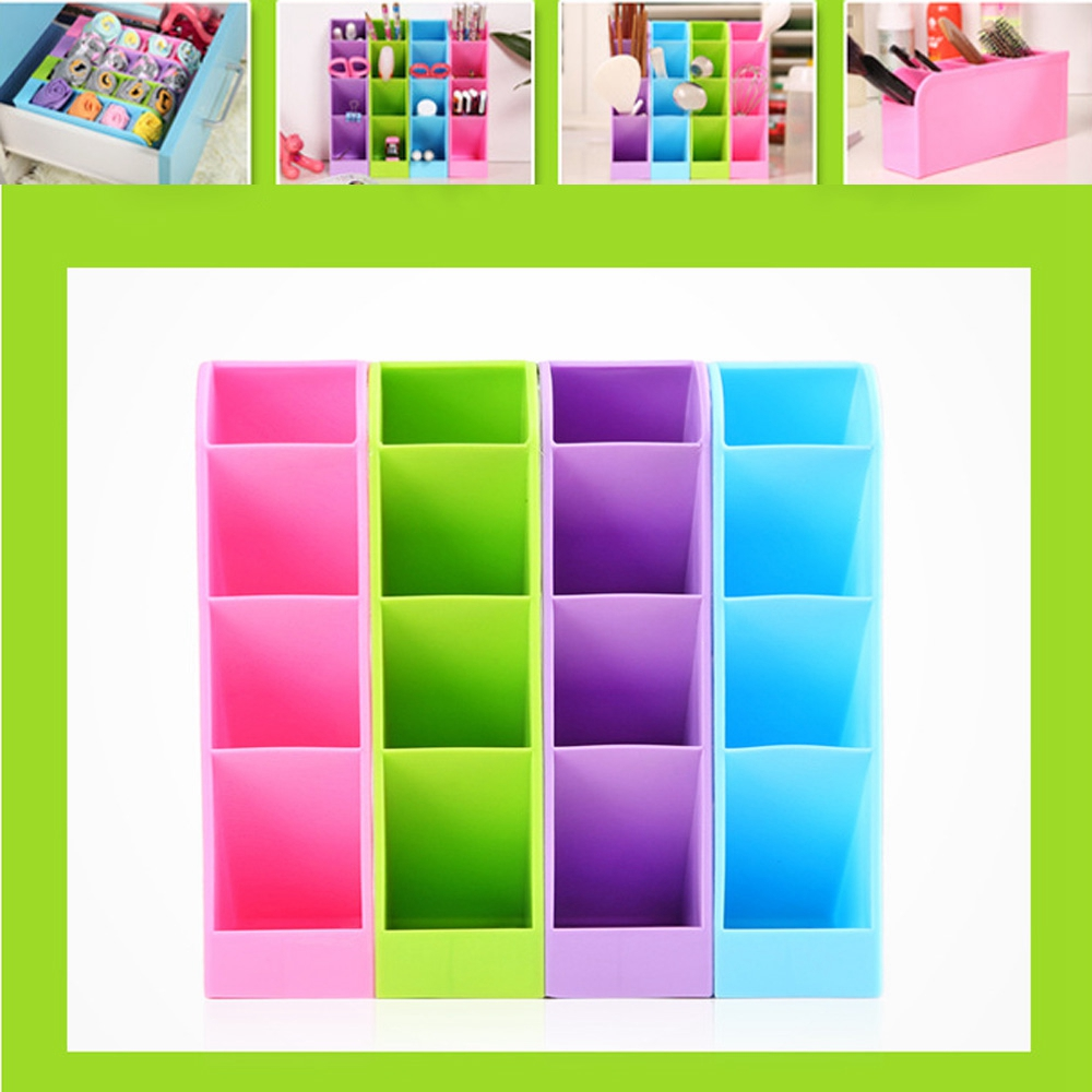 4 Cases Underwear Cosmetic Desk Box Plastic Drawer Office Kitchen Handy Organizer Holder Portable Compartment Storage(China (Mainland))