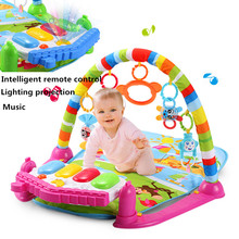Baby Gym Play Mat Educational Musical Toys for Newborns Electronic Soft Light Baby Toys Rattle Oyuncak Brinquedos Para Bebe(China (Mainland))
