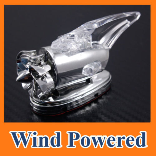 High Quality Car Auto Scooter Wind Power LED Light Shark Fin Antenna Aerial Warning Flash Lamp Decorative Lamp Free shipping C10(China (Mainland))