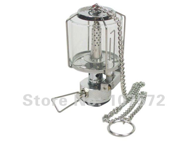 mini glass cover camping gas lantern tent light outdoor fire lamp(China (Mainland))