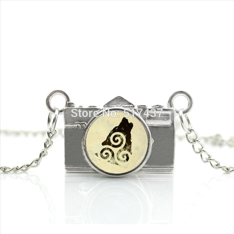 New Arrived DIY Teen Wolf Camera Necklace Glass The Last Airbender Jewelry Antique Camera Pendant CA--0296(China (Mainland))