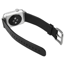 Black Band 42mm Baseus Modern Series Classic Buckle Genuine Leather Watchband for Apple Watch