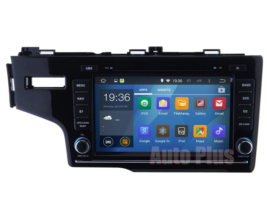 1024*600 screen Android 4.4 Car DVD GPS Honda Fit 2014 Dual Core CPU 3G Host Wifi RDS Bluetooth Radio Free map card - Auto-plus Store store
