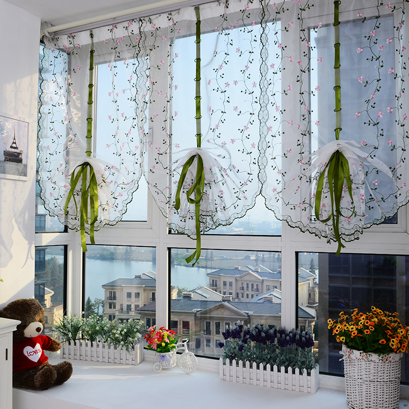 tulle for windows sheer curtains for living room kitchen shade window