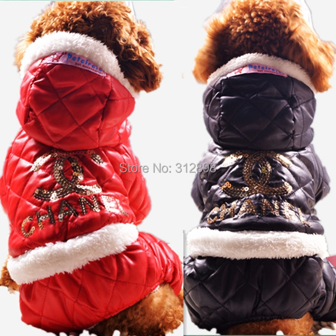 New Hot Sale Dog Jumper Pet Clothes Winter Letter Thick Warm XXS Red Black Small Big Animals Coat For Chihuahua Yorkshire PT02(China (Mainland))