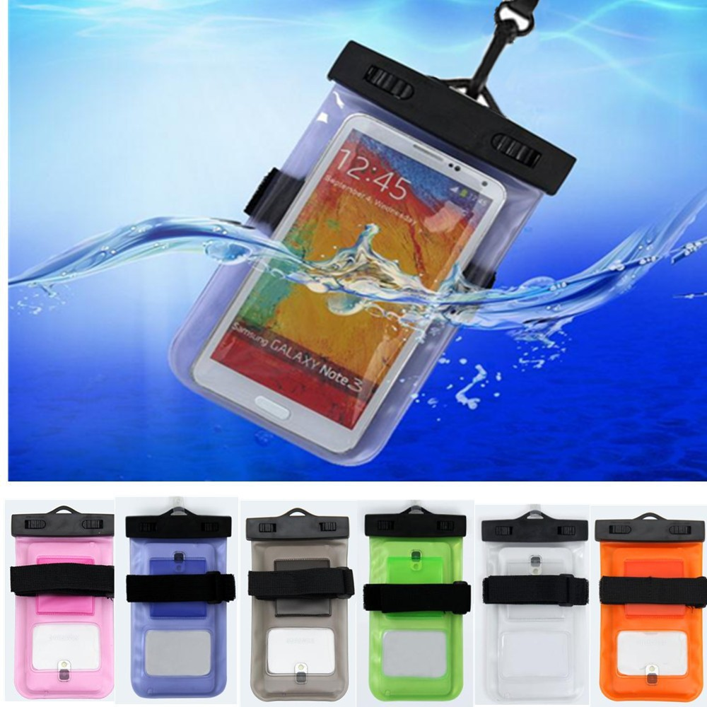 10pcs/lot 100% sealed Waterproof Durable Compass Water proof Bag Underwater back cover Case for I5 phone For touch Pouch phone