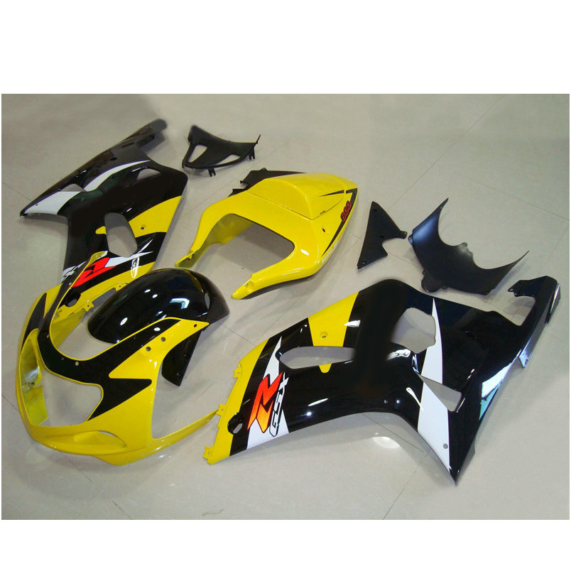 Aftermarket set Injection fairing parts for SUZUKI K1 2001 2002 2003 GSXR600 GSXR750 01 02 03 yellow black road racing fairings(China (Mainland))