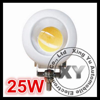 2PCS / Lot 25W 60/30 Degree 10V - 60V Led Work Light Round Led 4x4 Lights With CE, ROHS, IP67 Quality(China (Mainland))