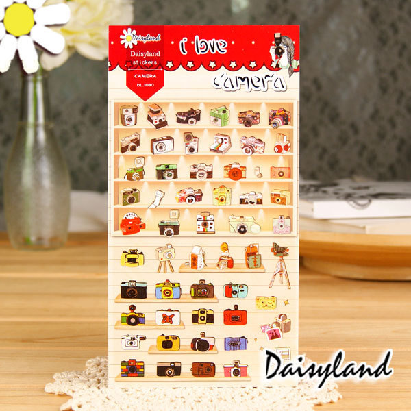2015 New Arrival Sale For Wall Paper Wall Decor [daisyland] Korean Sticker Diary Decorative Stickers Camera Control Pda 1080 Szm(China (Mainland))