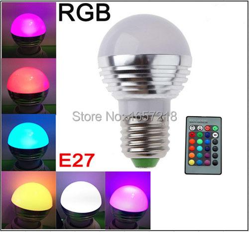 E27 GU10/E14 MR16 AC85-265V 3W RGB led lighting multiple 16 colour led bulb Family party lamps KTV Spotlight with Remote Control(China (Mainland))