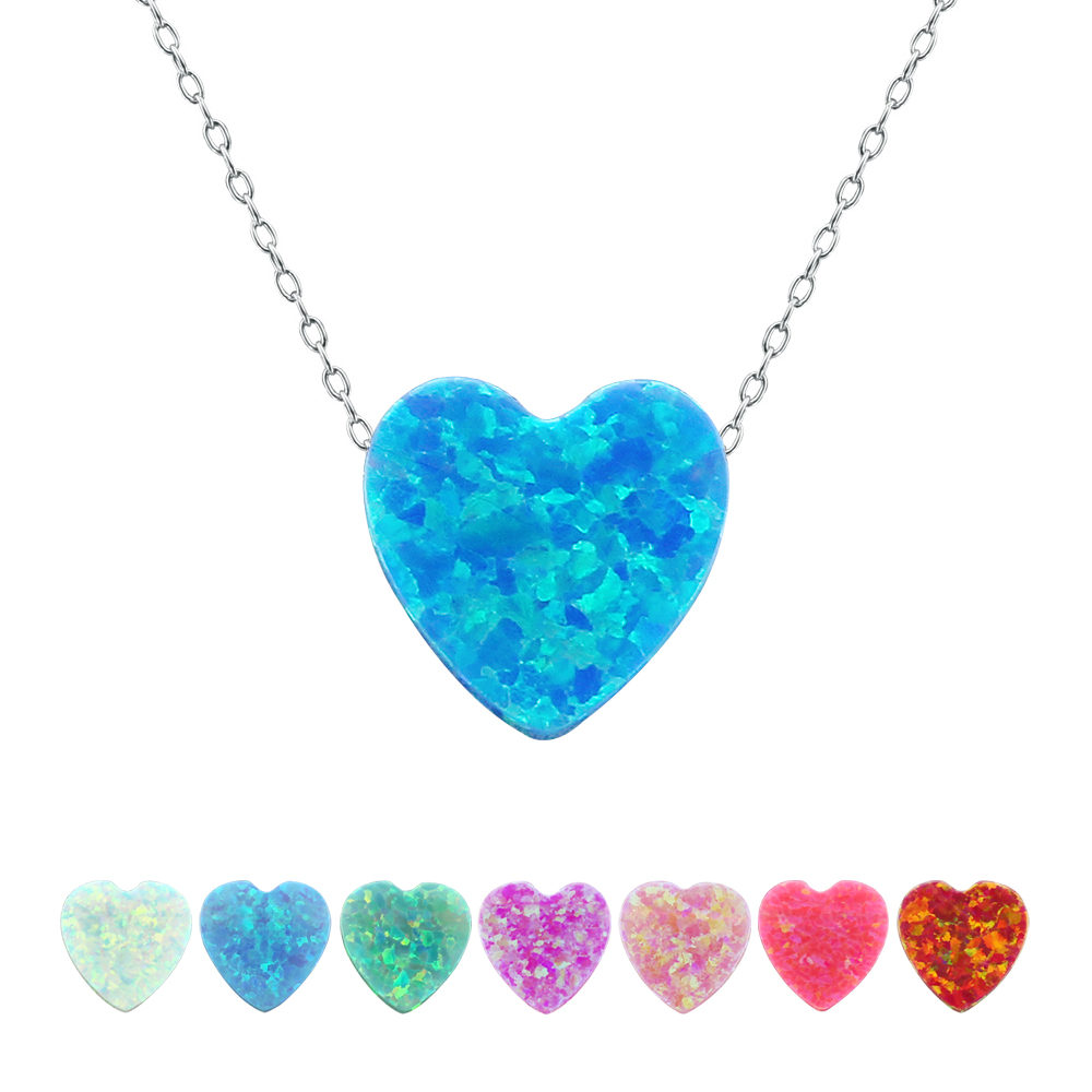aliexpresscom buy heart opal pendant necklace heart