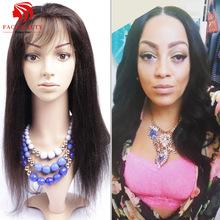Italian Yaki Full Lace Human Hair Wigs Yaki Straight Lace Front Wig Silk Top 4*4 Full Lace Human Hair Wigs For Black Women(China (Mainland))
