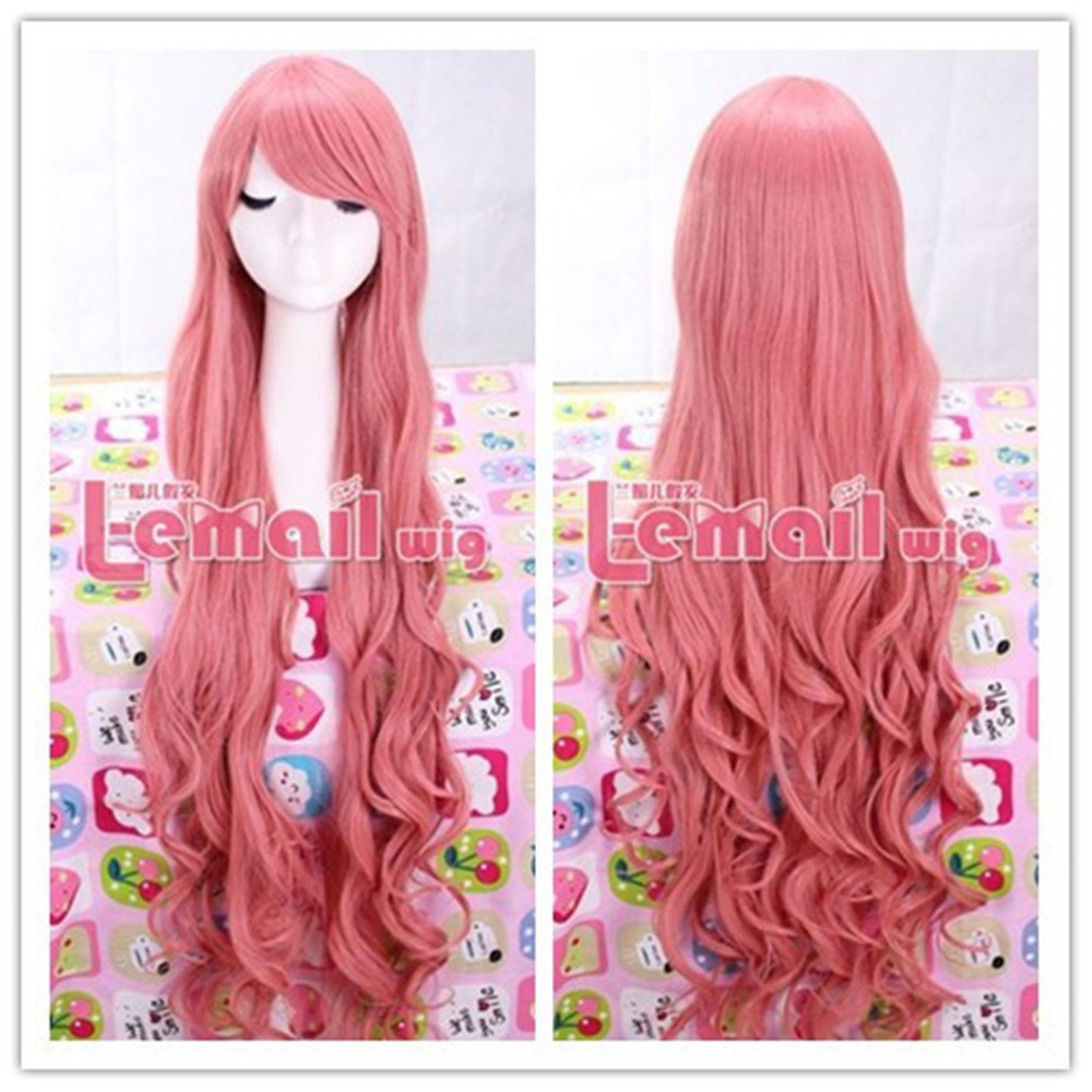 My little pony 95cm Long Pink fluttershy curly party cosplay wigParty cosplays heat resistant (B0320)<br><br>Aliexpress