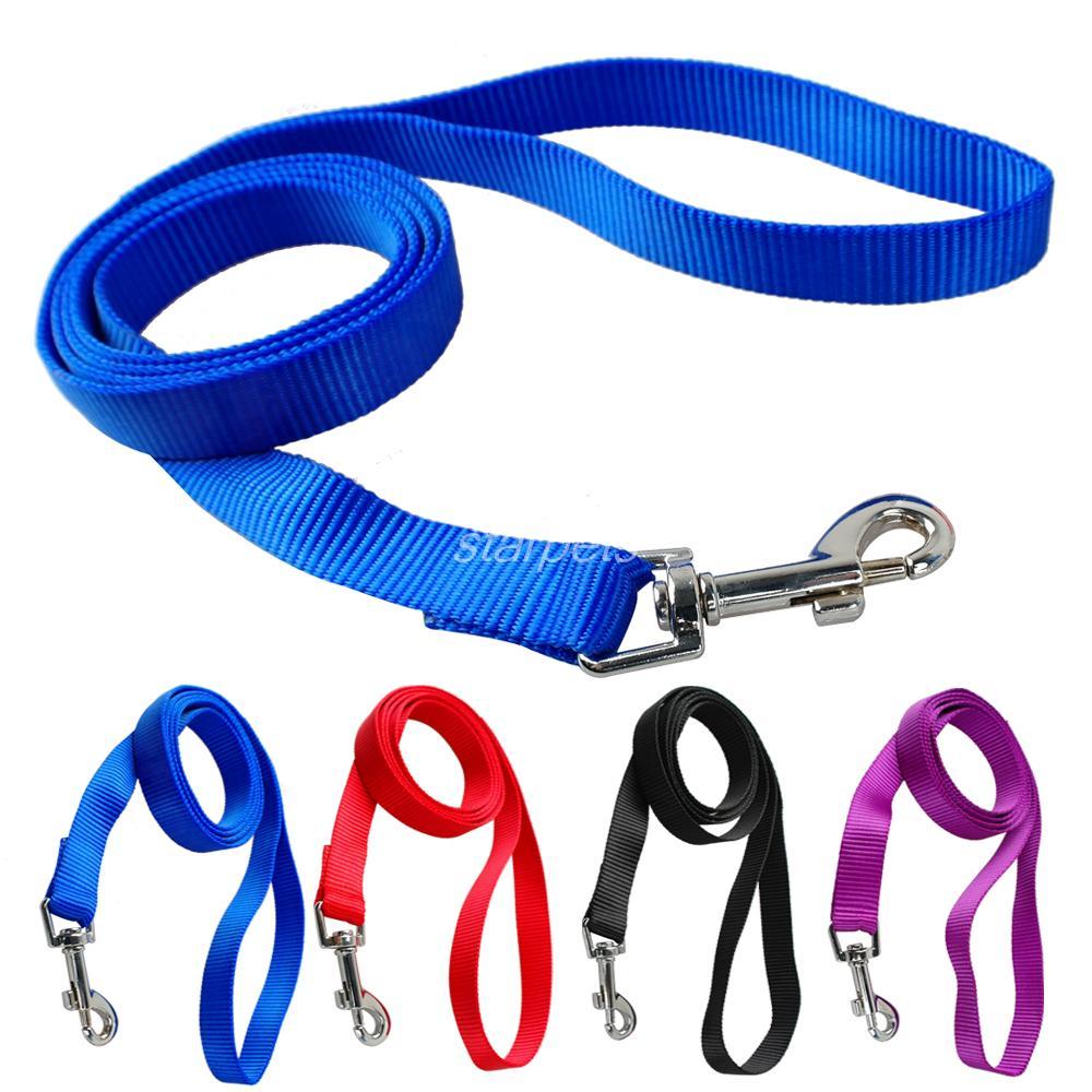120cm Long High Quality Nylon Dog Pet Leash Lead for Daily Walking 1.0cm,1.5cm,2.0cm,2.5cm Width 4 Colors(China (Mainland))