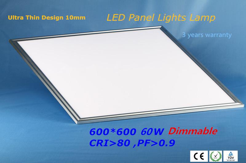 60 Watt Square LED Ceiling Panel Light Recessed Livr\ingroom Office Lamp 110V 220V 230V 240V LED Down light 4000K 5000K 6000K(China (Mainland))