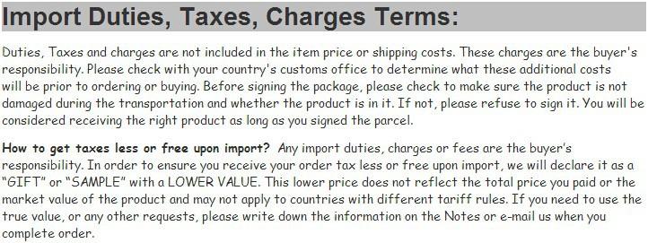 import duty - 14