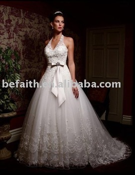 2011 New Free Shipping Hot Sale Bridal Sweep/ Brush Train Wedding Dresses  2234