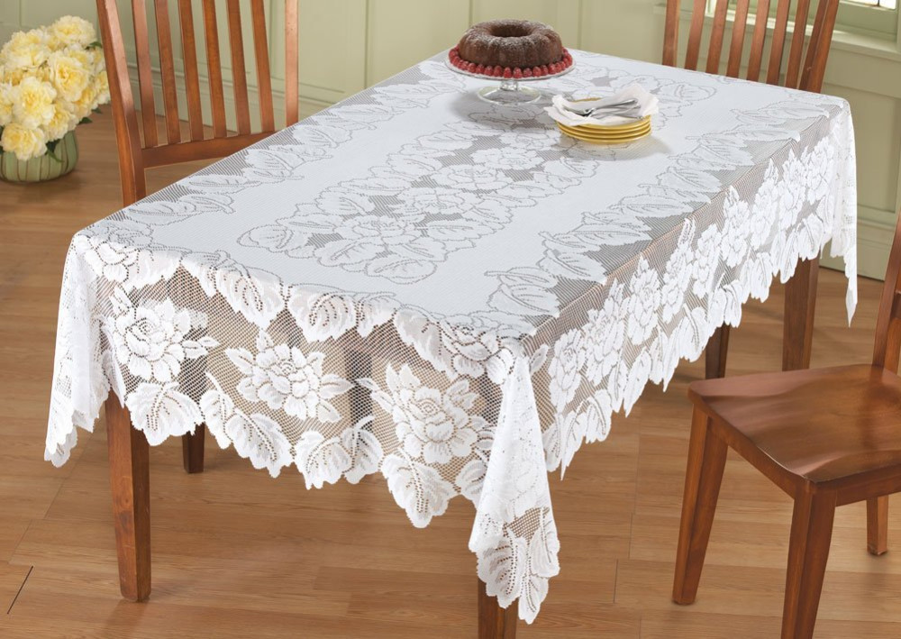Wholesale New Arrival Table Cloth White Hollow Lace
