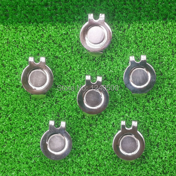 Free Shipping MAGNETIC VISOR & HAT CLIPS for GOLF BALL MARKER, 10 pcs / LOT(China (Mainland))