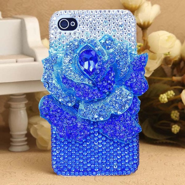 Fashion Hot sale Handmade diamond 3D rhinestone cell mobile phone Case cover For Apple iphone 5 5s case(China (Mainland))