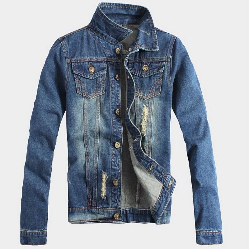 Brief Paragraph 2015 New Arrival Lapel Contrast Denim Jacket Men Coat Autumn Sport Blouses Blusas Casual Jackets Mens Clothing(China (Mainland))