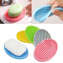 2015 New Creative Silicone Flexible Toilet Soap Holder Plate Bathroom Soapbox Soap Dish  Christmas  Gift  6LNE