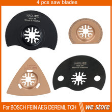 4 pcs HCS & carbide Oscillating Multi Tool saw blade fit for Dremel,Fein and most brand of power multi-tool, half circular blade