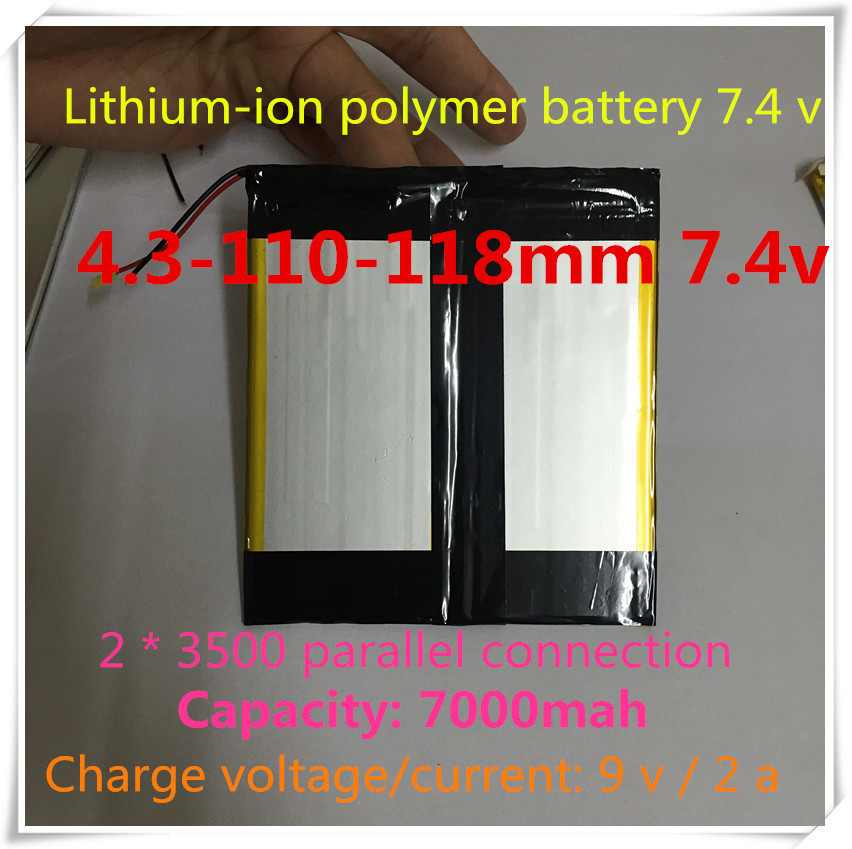 [B131] 7.4V,7000mAH,[43110118] ( polymer lithium ion battery ) Li-ion tablet pc,mp4,cell phone,speaker,PIPO M3 - Hong Kong wei jie technology electronics co., LTD store