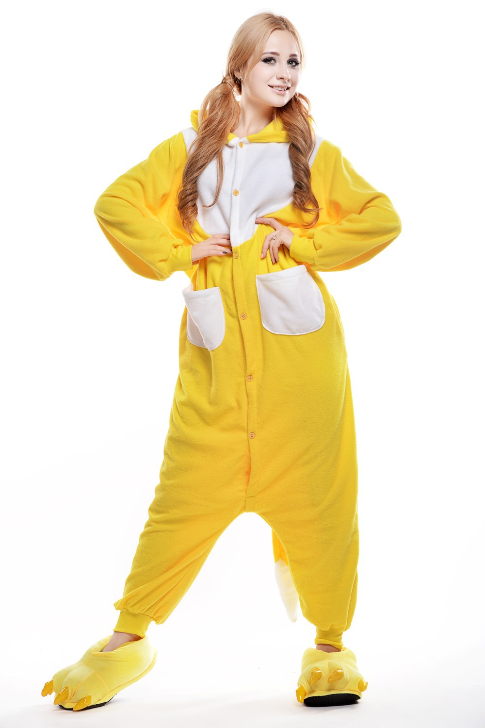 pajamas cheap Picture - More Detailed Picture about Adult Yellow ...