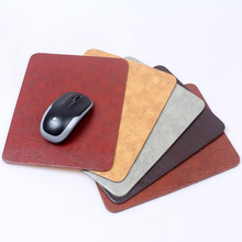 Soft leather mouse pad with 3mm thickness, easy to clean, thicker and bigger(China (Mainland))