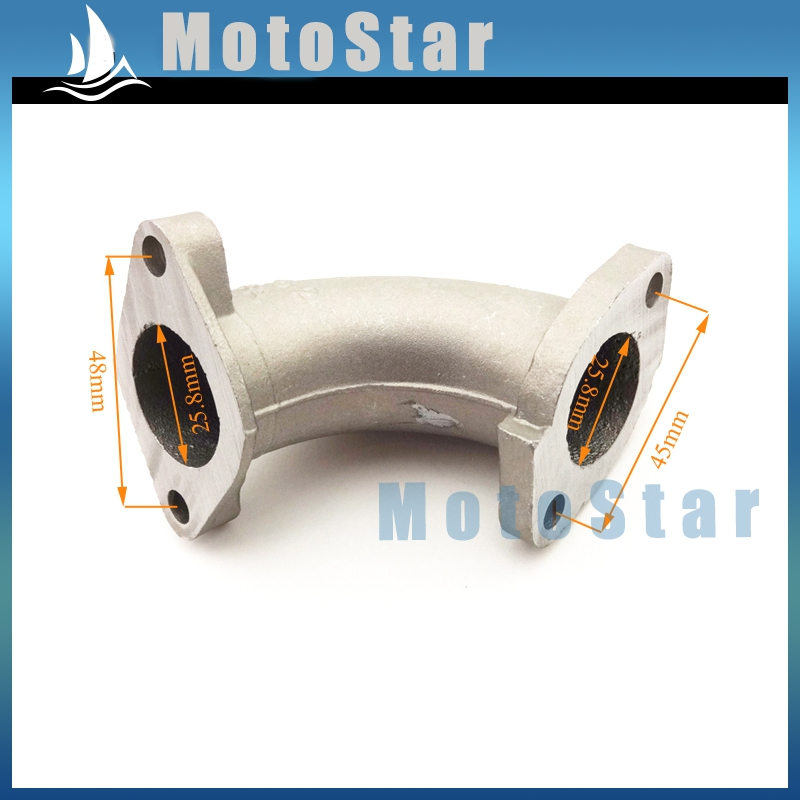 56-2 Manifold Carburetor Intake 25mm Pipe For Chinese 110cc 125cc 140cc Engine CRF 50 SSR KLX Thumpstar Pit Dirt Bike Motorcycle(China (Mainland))
