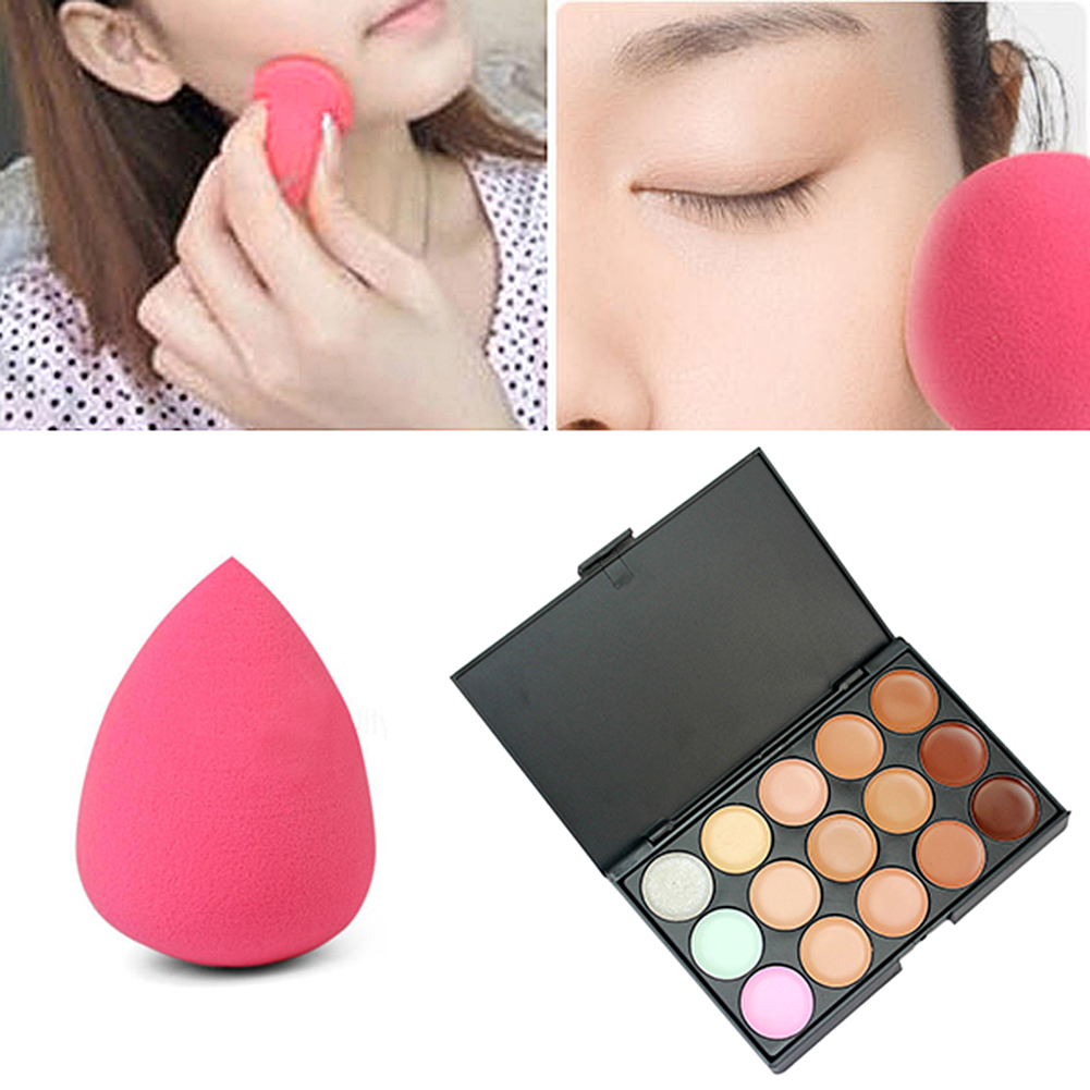15 Colors Professional Make Up Concealer Palette Contouring Foundation Face Cream Cosmetics Beauty Primer Makeup Set Accessories(China (Mainland))