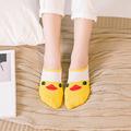 HOT women socks cute candy thin invisible socks Low cut boat Casual socks Cartoon Animal Breathable