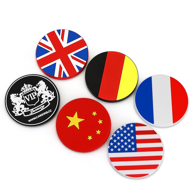 7cm Diameter Cup Holder Car Magic Sticky Mat Accessory Personalized France America England Germany Flag Silicon Anti Slip Mats(China (Mainland))