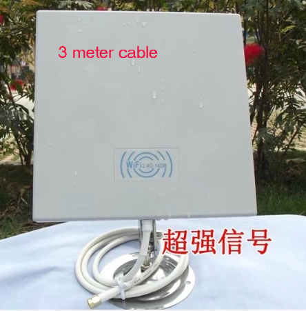 14dB 2.4GMHz panel antenna WIFI WLAN Outdoor Panel Antenna with 5meter cable 50pcs/lot(China (Mainland))