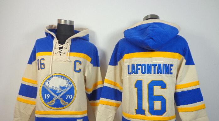 Best Sweatshirts men Ice Hockey beige hoodie pro jerseys Buffalo Sabres#16 Pat LaFontaine embroidery logo stitched free shipping