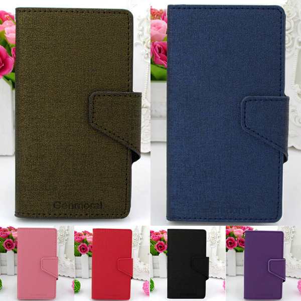 GENMORAL Luxury Brand Design PU Leather Cover phone Bag Retro Skin Shell Case For HTC Touch HD2(China (Mainland))
