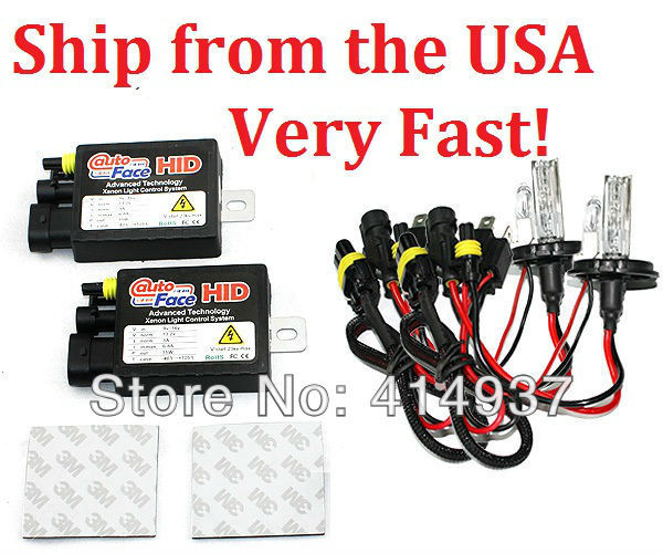 Xenon Hid Kit 35W 12V 813A Ballast Hid Kits Dual Beams H4L Color temperature 4300K,6000K,10000K Ship from the USA