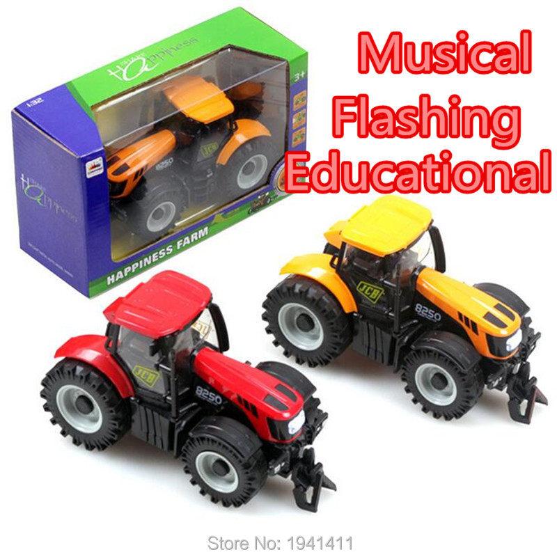 Hot sale 1:32 alloy + plastic big farmer car front with light,with music car children's toy car alloy car models(China (Mainland))