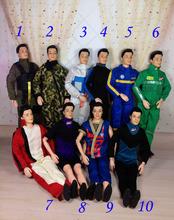 5 set/lote juegos de la ropa para el niño muñecas ropa príncipe Ken ropa piloto astronauta camuflaje arropa sistemas niños regalos envío gratis