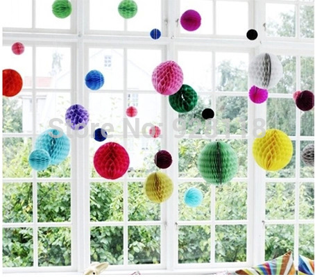 10pcs 15cm (6 inch) Tissue Paper Flower ball Honeycomb Lantern Wedding decoration Birthday Party suppliers for child Wholesale(China (Mainland))