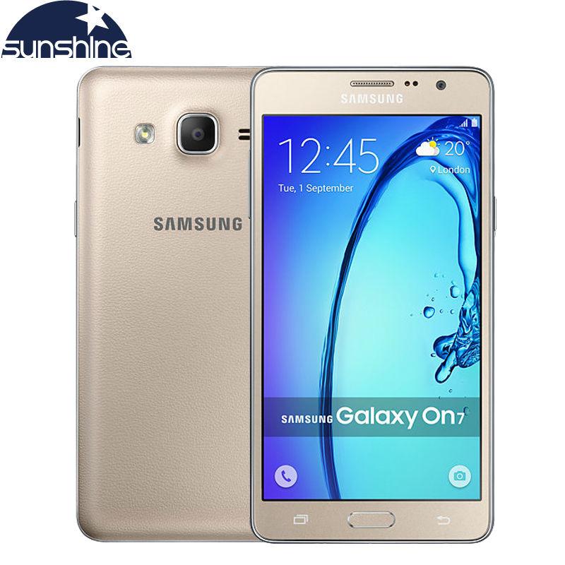 Original Unlocked Samsung Galaxy On7 G6000 Mobile Phone Quad Core 5.5''13MP 4G LTE Android phone 1280x720 Dual SIM Smartphone(China (Mainland))
